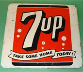 Vintage Tin 7UP Sign