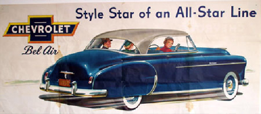 Chevrolet Bel Air Dealer Poster