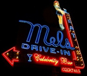 Mel's Drive in Sign in Hollywood
