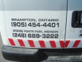 Cut lettering on van