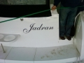 Boat name cut letters