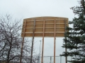 Showing the construction of a Billboard that is 30' in the air near hwy 400 and hwy 7