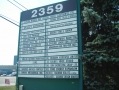 Exterior directory board for industrial complex