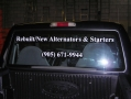 Truck Window with cut lettering