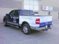 Cusom 1/2 Vehicle wrap - back of truck is wrapped in vinyl